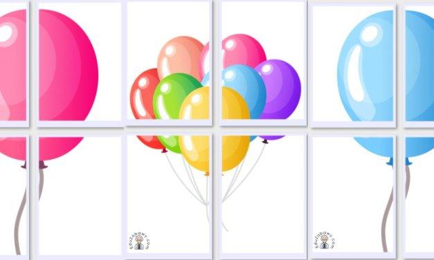 Dekoracje XXL: Balony (10 szablonów)