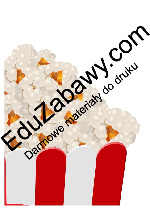 Dekoracje XXL: Popcorn (10 szablonów) Dekoracje Dzień Popcornu