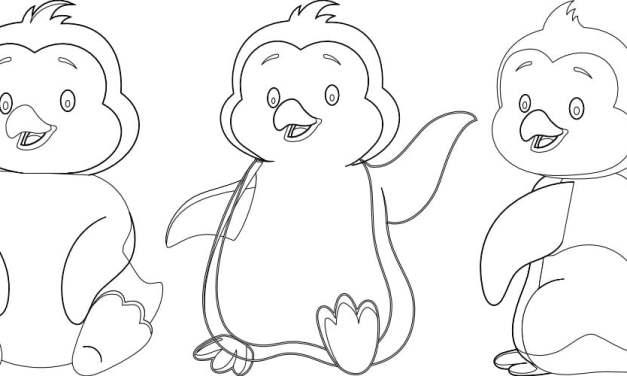 Kolorowanki: Pingwiny