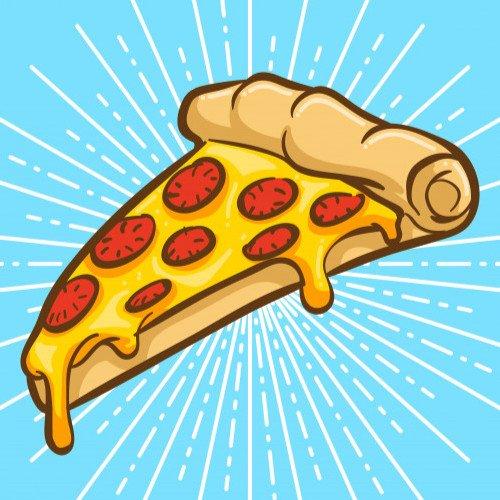Napis Dzień Pizzy z salami Dzień Pizzy Napisy (Dzień Pizzy)
