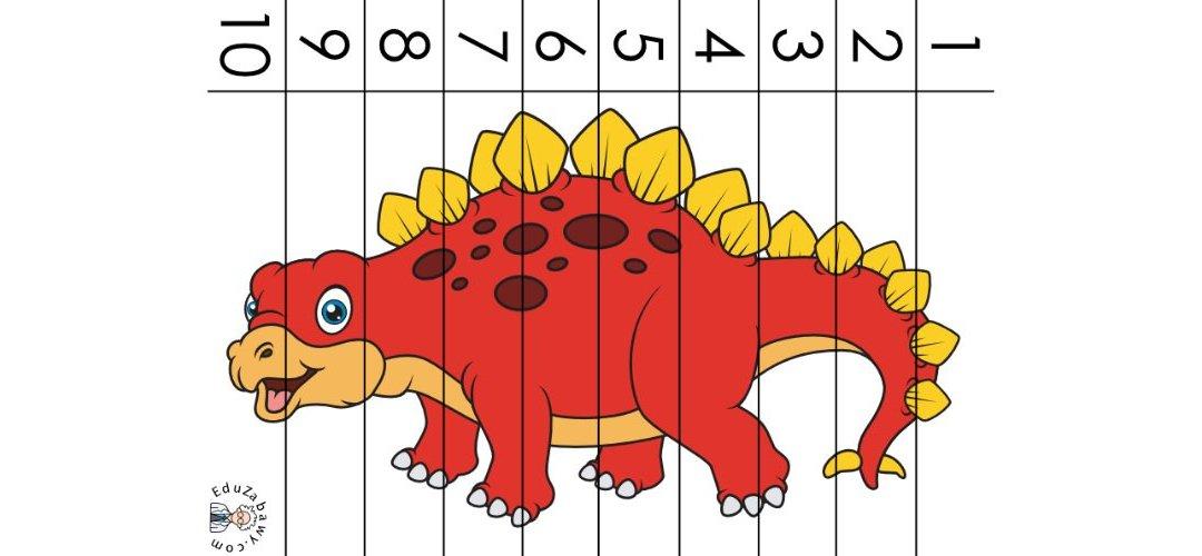 Dzień Dinozaura: Puzzle 10 elementów (10 kart pracy)