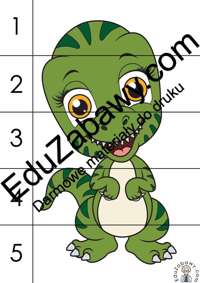 Dzień Dinozaura: Puzzle 5 elementów (10 kart pracy) Dzień Dinozaura Karty pracy Karty pracy (Dzień Dinozaura) Puzzle