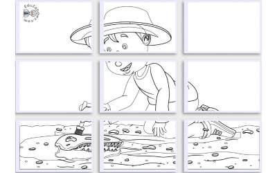 Kolorowanki XXL: Archeolog (10 szablonów)