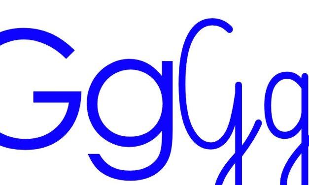 Niebieska spółgłoska G do alfabetu szorstkiego