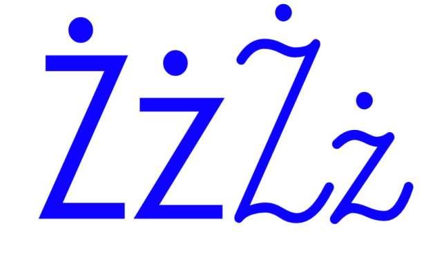 Niebieska spółgłoska Ż do alfabetu szorstkiego