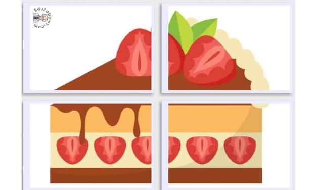 Dekoracje XXL: Ciasta (10 szablonów)