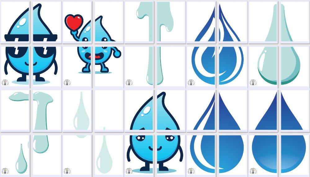 Dekoracje XXL: Krople wody (10 szablonów) Dekoracje Dekoracje (Dzień Wody)