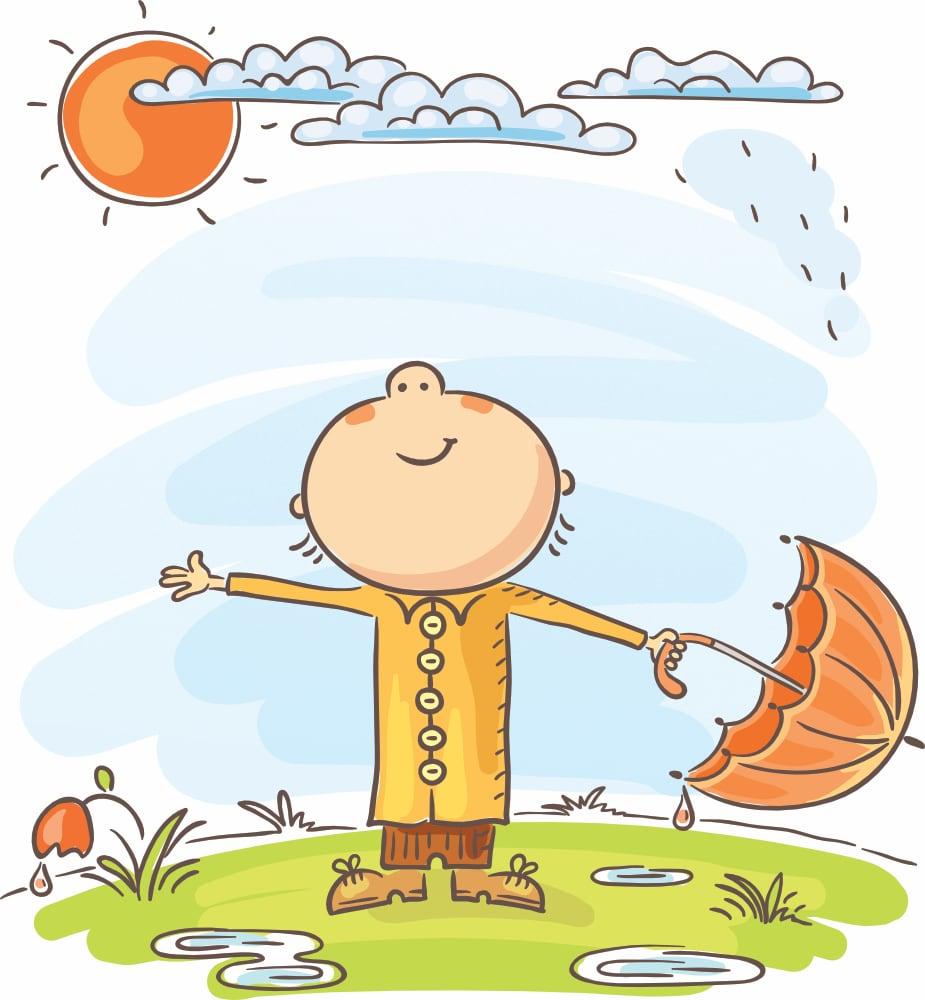 Kapryśna pogoda Agata Dziechciarczyk Wierszyki Wiosna (Wierszyki)
