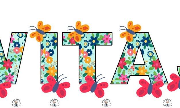 Napis WItaj Wiosno w kwiaty