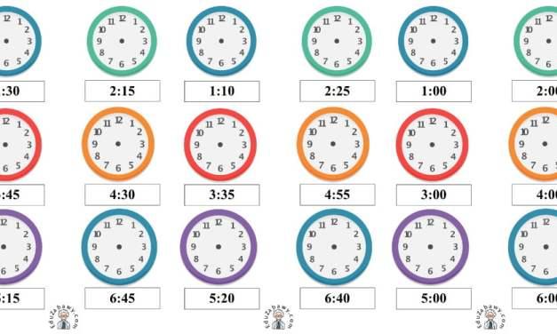 Nauka zegara – dorysuj wskazówki