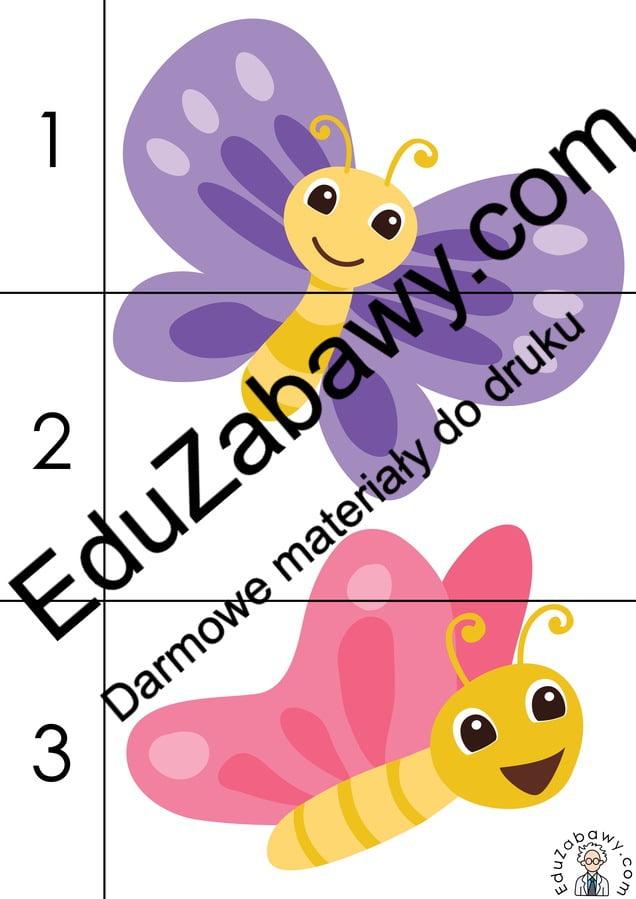 Wiosna: Puzzle 3 elementy (10 kart pracy) Karty pracy Karty pracy (Wiosna) Puzzle Wiosna