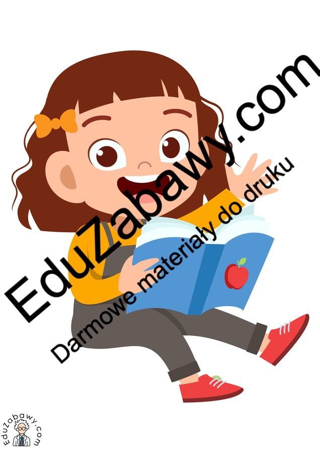 Dekoracje: Dzieci z książką (10 szablonów) Dekoracje Dekoracje (Dzień Dziecka) Dekoracje (Dzień Książki) Dekoracje (Dzień Postaci z Bajek)