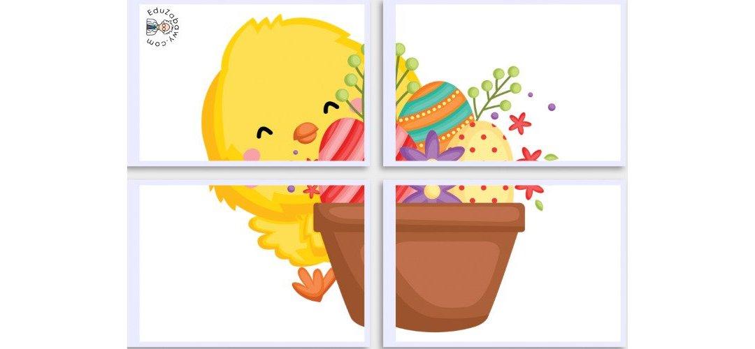 Dekoracje XXL: Kurczaczek wielkanocny (10 szablonów)