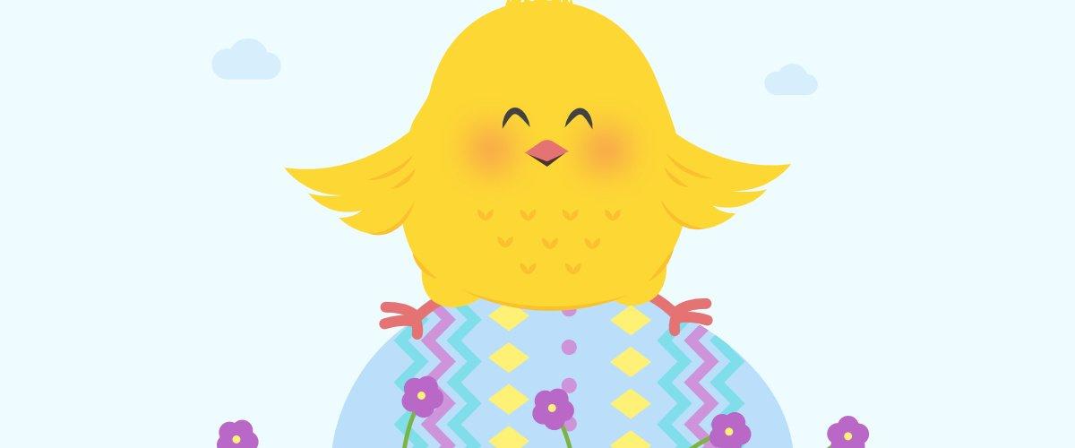 Kurczątko wielkanocne Agata Dziechciarczyk Wielkanoc (Wierszyki) Wierszyki