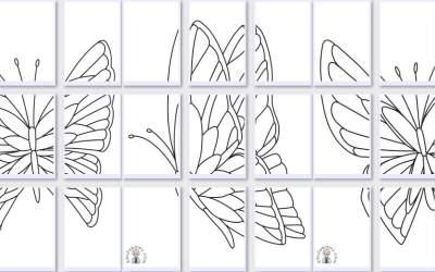 Kolorowanki XXL: Motyle (10 szablonów)