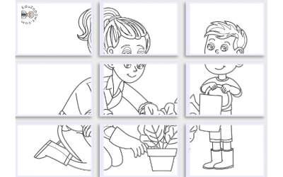 Kolorowanki XXL: Prace w ogrodzie (10 szablonów)