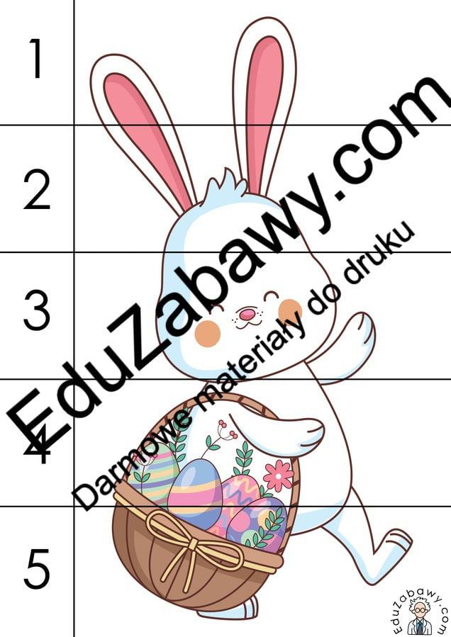 Wielkanoc: Puzzle 5 elementów (10 kart pracy) Karty pracy Karty pracy (Wielkanoc) Puzzle Wielkanoc