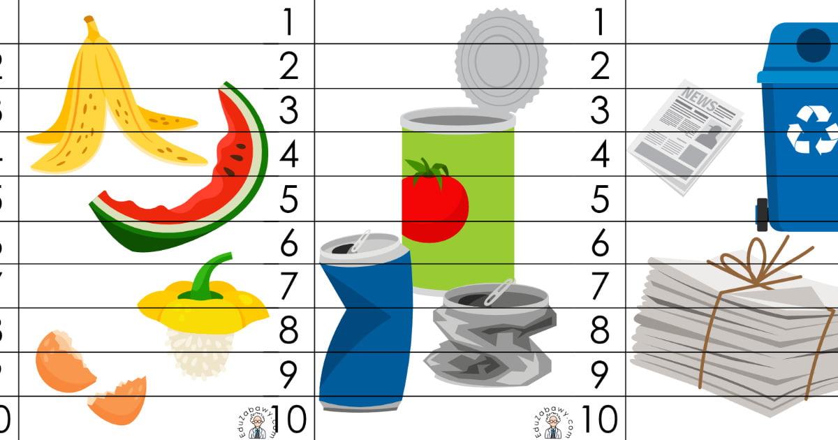 Dzień Ziemi: Puzzle 10 elementów (10 kart pracy)