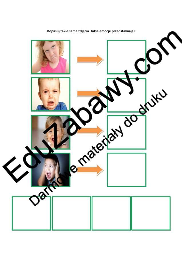 Książka na dopasowywanie - EMOCJE Dzień Pozytywnego Myślenia Katarzyna Kołodziejska Pomoce dydaktyczne
