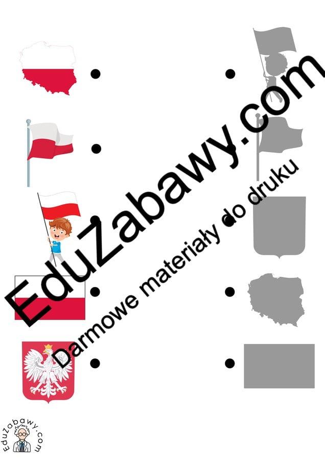Patriotyczne Dopasuj cienie (10 kart pracy) 3 maja Dopasuj cienie Karty pracy Karty pracy (3 maja)