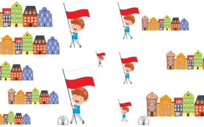 Patriotyczne karty: Uszereguj (10 kart pracy)