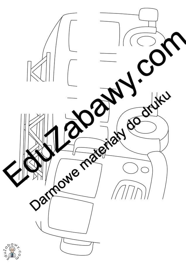 Strażak: Dokończ obrazek (10 kart pracy) Dokończ obrazek Dzień Strażaka Karty pracy Karty pracy (Dzień Strażaka)