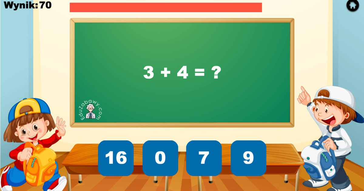 Gra online: Działania matematyczne