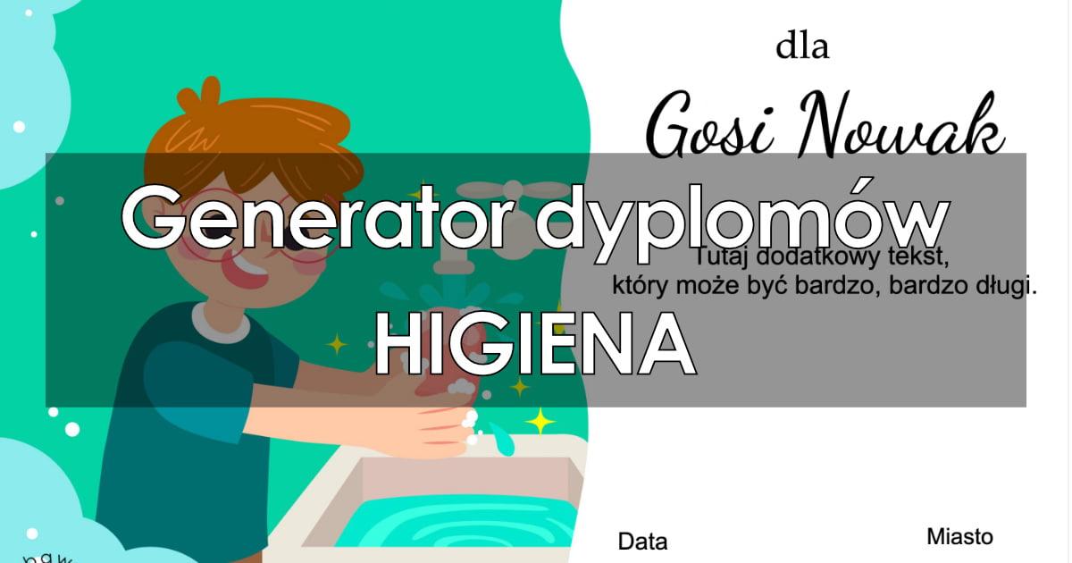 Generator dyplomów – Higiena