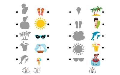 Lato: Dopasuj cienie (10 kart pracy)