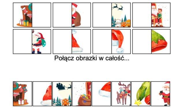 Gra online: Połącz obrazki: Mikołaj