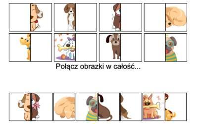 Gra online: Połącz obrazki: Psy