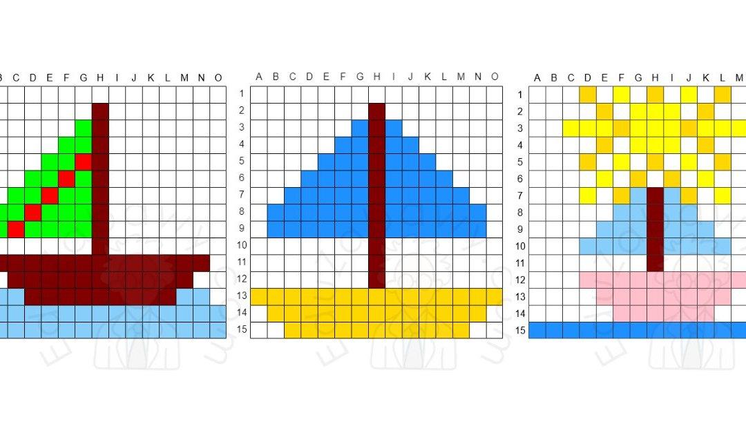 Kodowanie / Dyktando graficzne: Łodzie