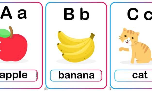 Plansze dydaktyczne po angielsku: Alfabet