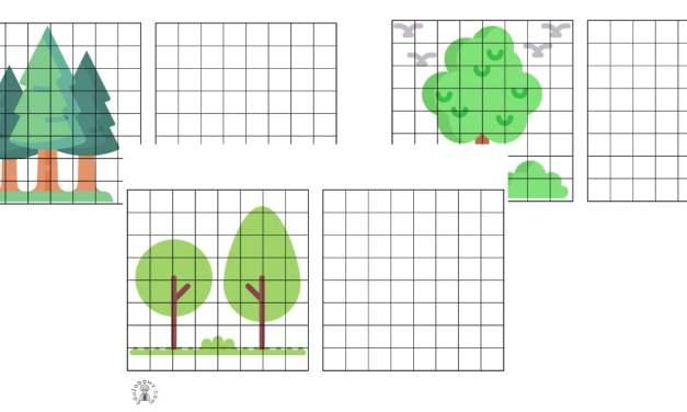 Przerysuj obrazek: Dzień Drzewa