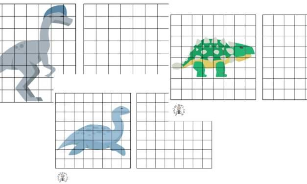 Przerysuj obrazek: Dzień Dinozaura
