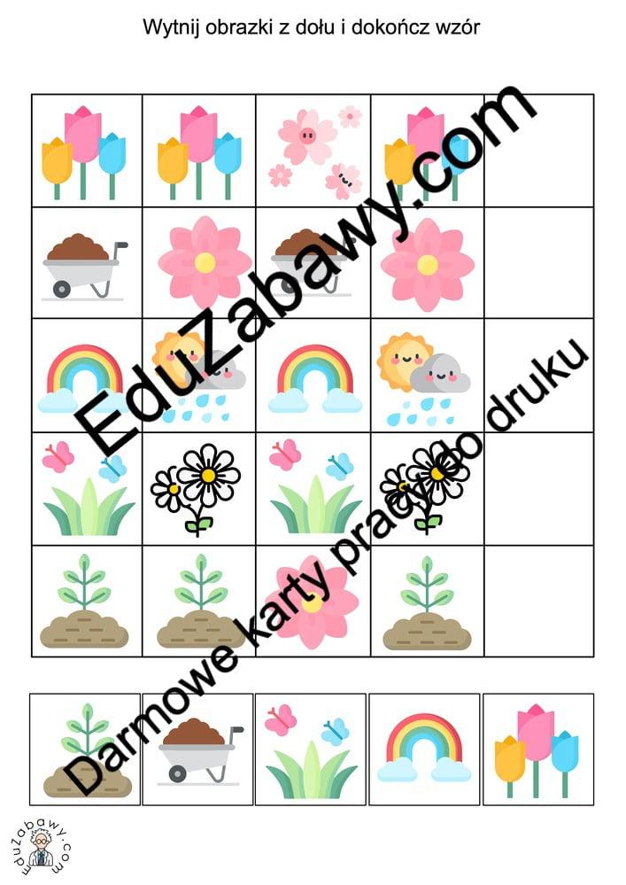Sekwencje: Wiosna Karty pracy Karty pracy (Wiosna) Sekwencje Wiosna