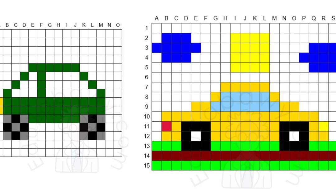 Kodowanie / Dyktando graficzne: Auta