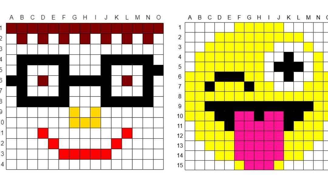 Kodowanie / Dyktando graficzne: Emocje / Uśmiech