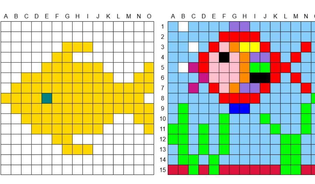 Kodowanie / Dyktando graficzne: Ryby