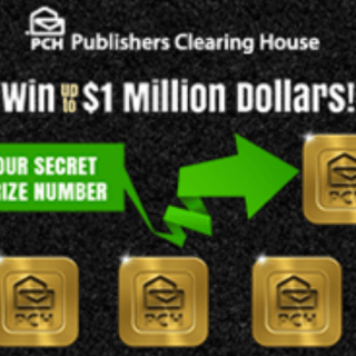 PCH Win UP To $1 Million Dollars Sweepstakes