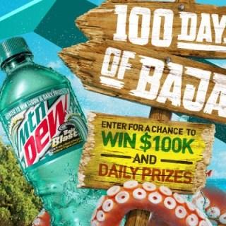 Mtn Dew 100 Days of Baja Sweepstakes