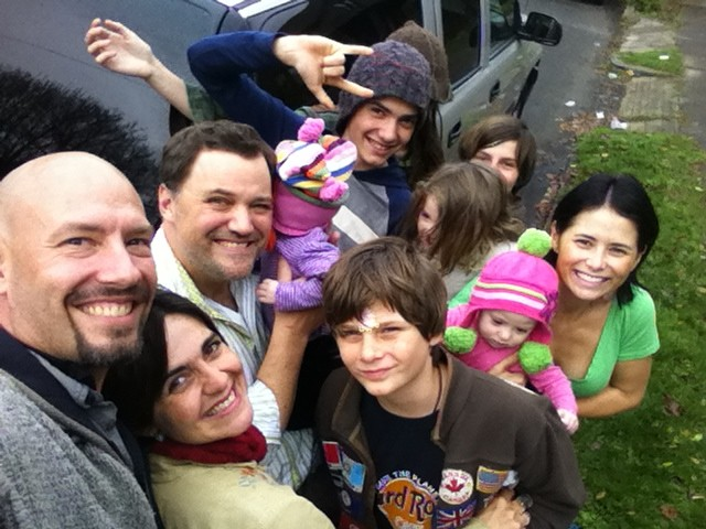 Craziest selfie ever... 11 people in there! With the Keener family!