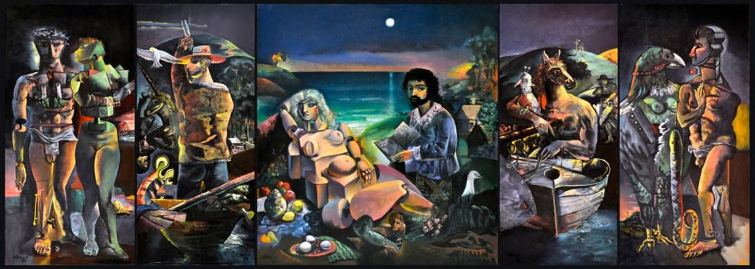 american-artist-edward-boccia-painting il pensieroso 1981