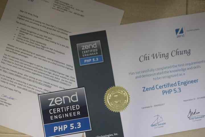 Zend Certified Engineer PHP 5.3 Certificate