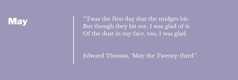 Edward Thomas - May The Twenty Third  Poem Extract May