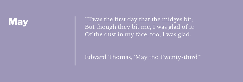 Edward Thomas - May The Twenty Third  Poem Extract May