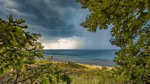 Lake Storm Seen Through Dune Trees