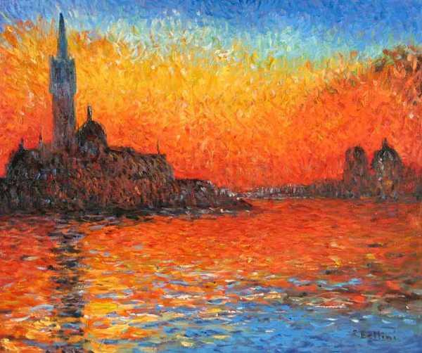 Monet San Giorgio Maggiore Al Crepuscolo Edwardcpeterson