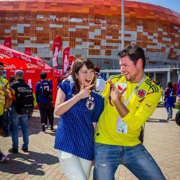 Gozando con una nueva compañera Japonesa en el Mundial de Futbol Rusia 2018