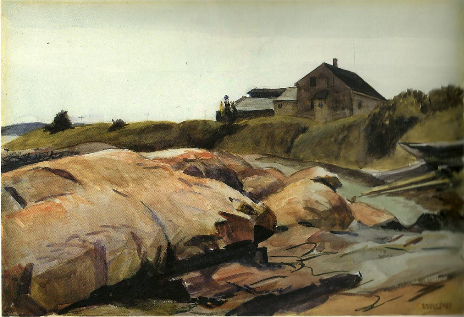 Harbor Shore, Rockland (1926) - Edward Hopper
